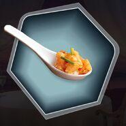 Amuse boche shrimp fish tuna appetizer spoon