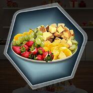 Grapes strawberry kiwi pound cake fruit platter