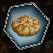 Vanilla sugar flower cookie pastry