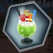 Candy slush mocktail cocktail green glass