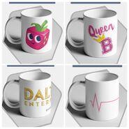 Le merch mugs