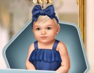 BaBu2 Twin Girl Premium Blue Dress F2