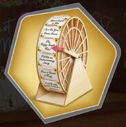 Wedding reception wheel spin game