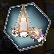Gardenia hanging candle flower decoration flower