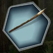 Wooden branch spear