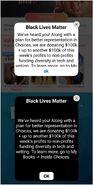 Black lives matter pop-ups