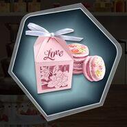 Box wedding favor macaron pink