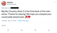 Choices twitter confirmation BSC series finale 11-12-19