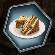 Club turkey bacon sandwich