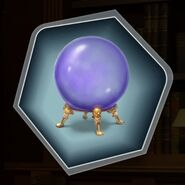 Smokey Purple Blue Crystal Ball Orb