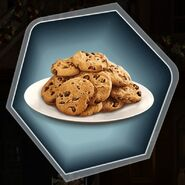 Chocolate chip cookies plate