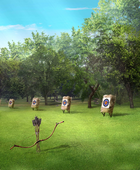 ArcheryareaforMC,MissParsonsandMr.Sinclare