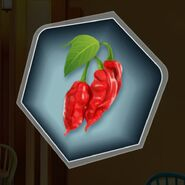 Red ghost chili pepper