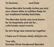 Holiday invitation duchess duke