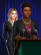 CaucasianFemaleHarleybehindthefemalepresident