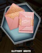 Glitzy Themed Wedding Invitations