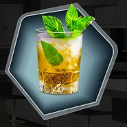 Whiskey mint julep mystery concoction