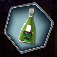 Tuh absinthe bottle green alcohol