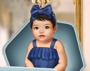 BaBu2 Twin Girl Premium Blue Dress F3