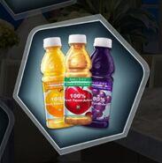 Fruit juice mini bottles