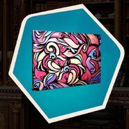 Pink purple swirl painting