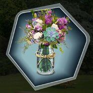 Flowers glass vase mason jar rustic