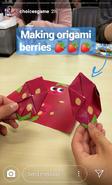 Makingorigamiberriespart2