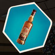 Bottle of rum alcohol liquor
