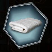 White folded towel warm hot dry