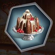 Plum pudding chocolate strawberry cake