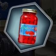 Jar of maraschino cherries cocktail ingredient