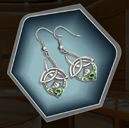 Wabr silver claddagh earrings