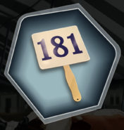 BSC 2 Auction Paddle Lucky Number 181 Ch 8