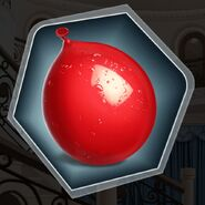 Red water balloon