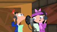 Phineas and Isabella singing