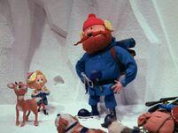 Rudolph and Hermey meet Yukon