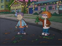 Tommy and Chuckie end up losing the replacement tree