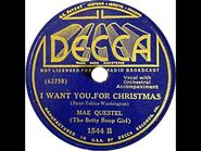 Mae Questel (The Betty Boop Girl) - I Want You For Christmas