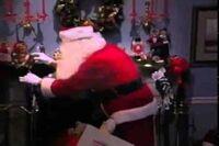 Santa Filling Stockings