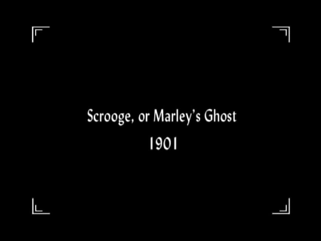 Scrooge, or Marley's Ghost