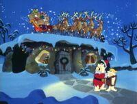 Fred sees Santa's reindeer