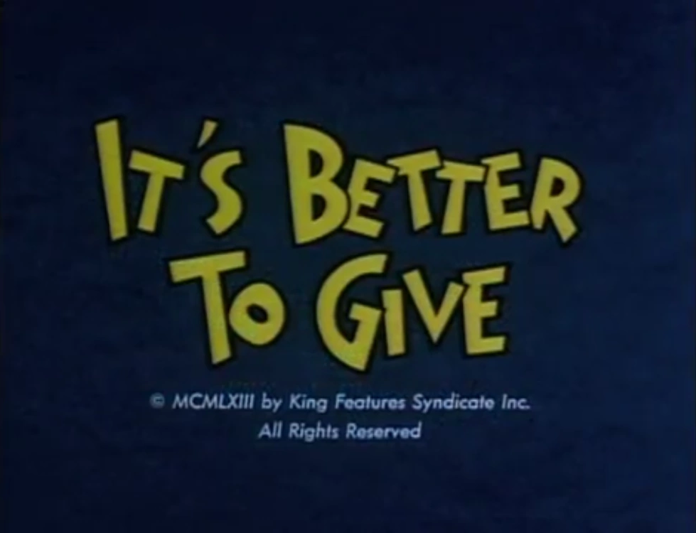 It's Better To Give (Barney Google and Snuffy Smith)