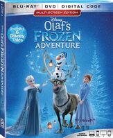 Olaf's Frozen Adventure Blu-Ray Combo
