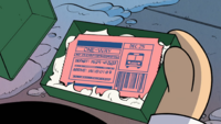 Mr. Grouse's bus ticket