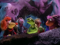 Kermit and Robin down in Fraggle Rock