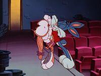 Buster hugging Babs