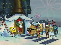 Everyone thinks Squidward is Santa
