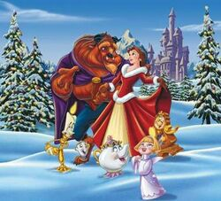 Belle and beast celebrate christmas 6485.jpg