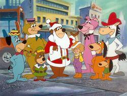 Yogi and friends with Judy.jpg