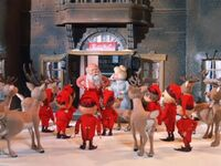 Santa announcing to elves